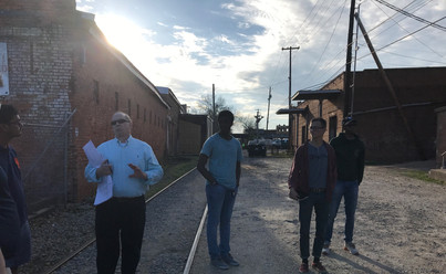 Site visit with City Planners