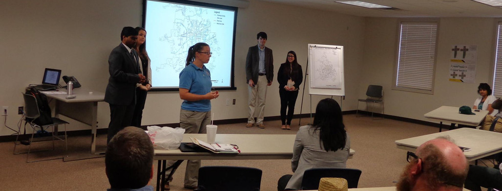 Students presenting the plan