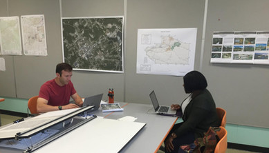 Students working on the project
