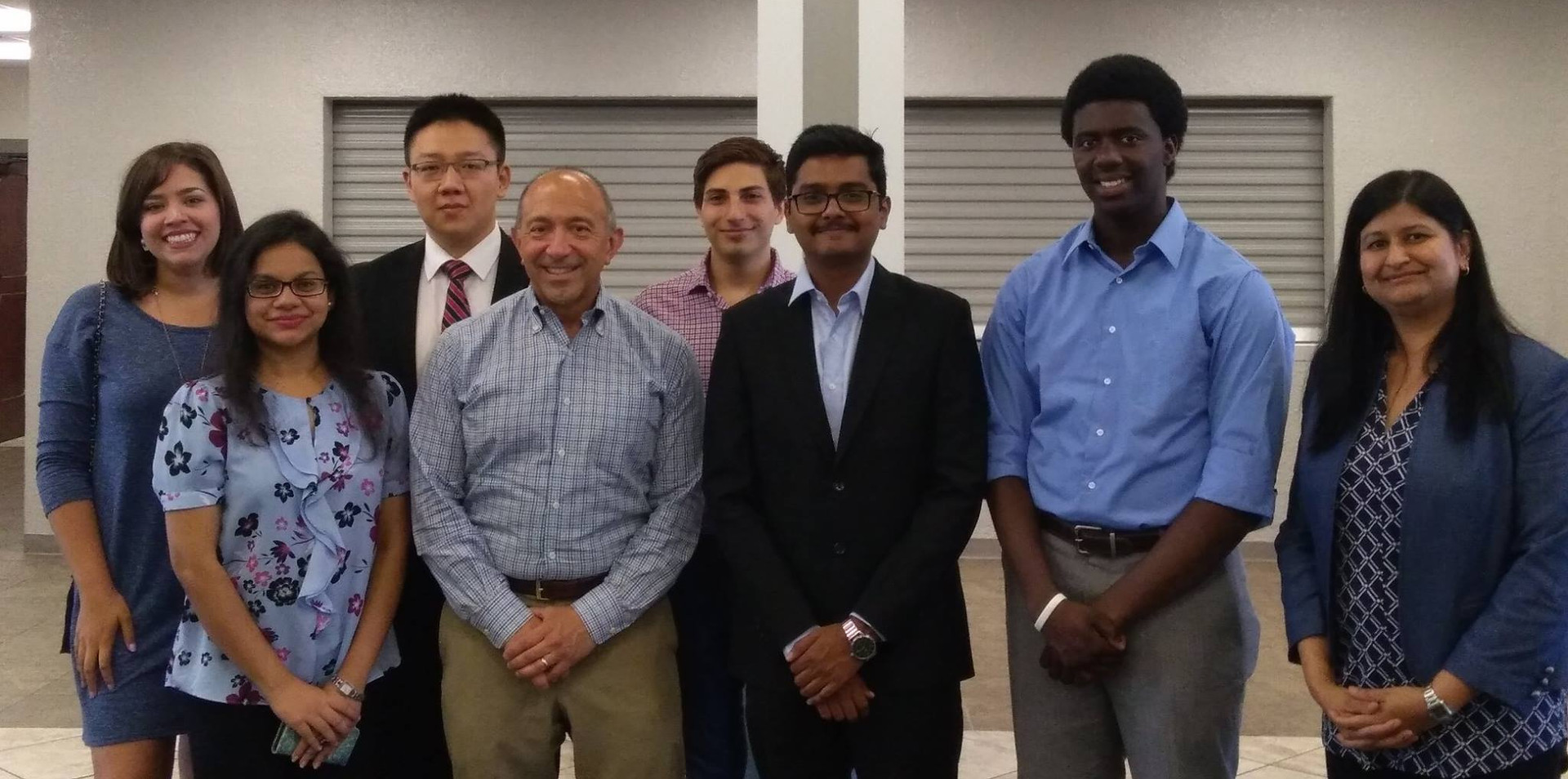 Students with the City Mayor