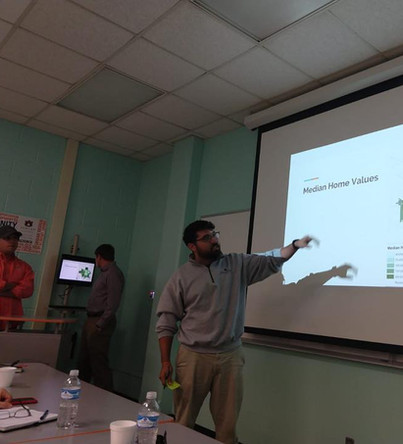Final presentation with the faculties and Dothan city staffs