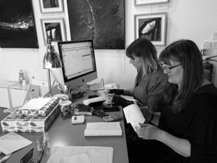 Danielle Taylor and Tricia Colyer hard at work!