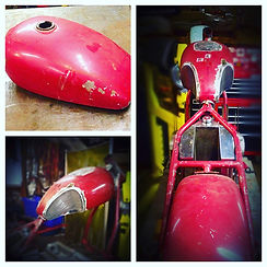 custom honda gas tank cb metric