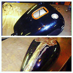 custom fat bob gas tank sheetmetal haley davidson honda