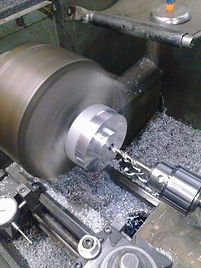 lathe drilling wheel spacer threading tappingboring broachig