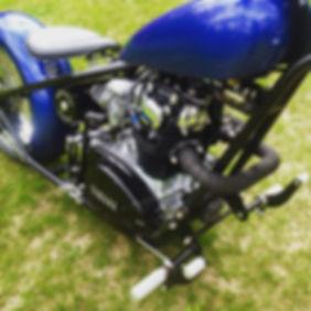 xs 650 hartail chopper powder coating knurel parts
