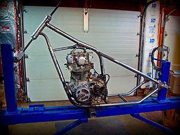 xs 650 hardtail chopper gooseneck yamaha
