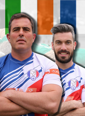 France - Irlande - Reportage sportif - affiche de match - Rugby militaire