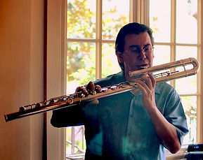 Bob Chadwick  bass flute  Eva Kingma flutes Backstreet Cafe