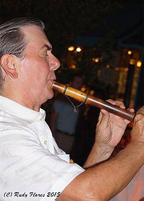 Quena flute player Houston