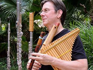 Bob Chadwick world flutist bass flute alto flute shakulute quena bansuri pan flute  Eva Kingma flutes exotic flutes