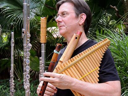 Bob Chadwick World flutist world flutes bass flute shakulute quena bansuri pan flutes countryman microphones Eva Kingma flutes powell flute