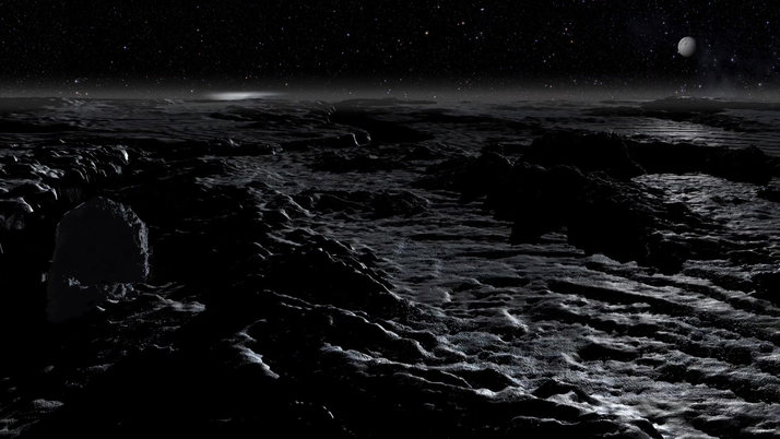 The Surface of Moon Enceladus
