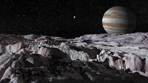 The Surface of Moon Europa