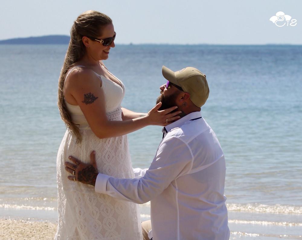 Lauretta Wright, Celebrant on Fraser Island for ceremony