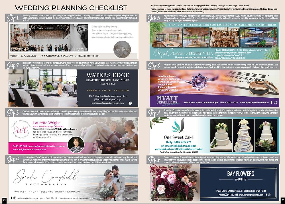 8 steps to wedding planning on the Fraser Coast, Queensland