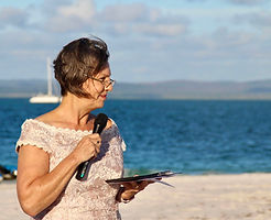 Lauretta Wright Celebrant at Pelican Bank near Fraser Island