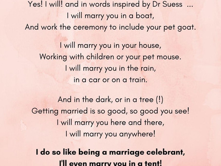 looking for a celebrant with a sense of humour? that's Lauretta! #doingitWright