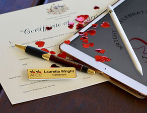 authorised marriage celebrant Lauretta Wright