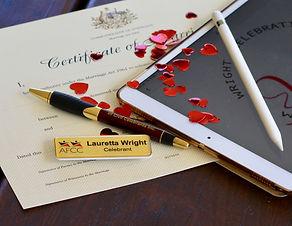 authorised marriage celebrant Lauretta Wright