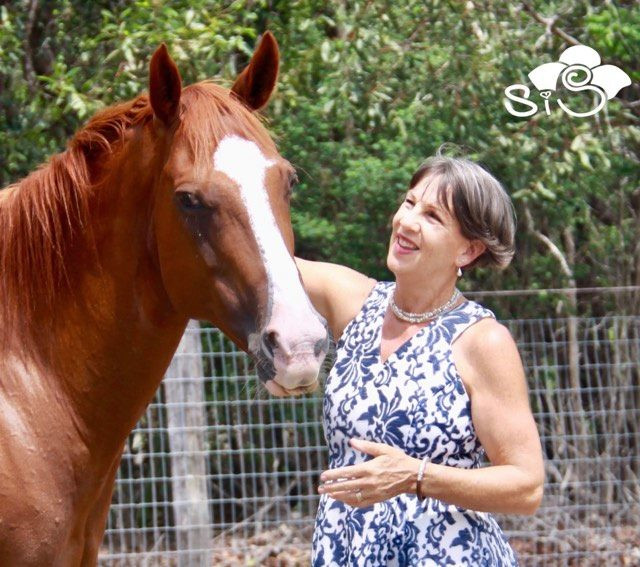 a horse crazy marriage celebrant in Lauretta Wright in Hervey Bay