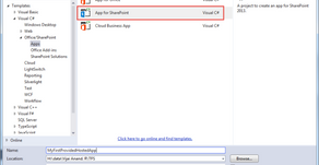 Creating Provider-Hosted App in Office 365 and Azure Using VS 2013: Part 1