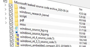 The Windows XP and Windows Server 2003 source code leaks online