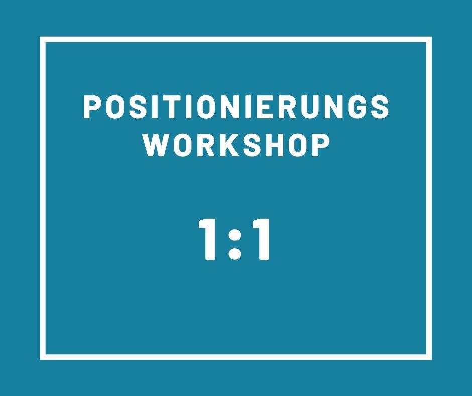 1 Day Positionierungs-Workshop