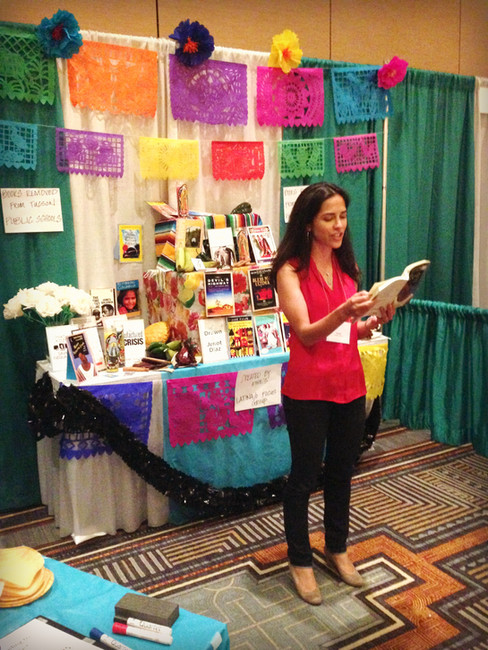 Reader at the performance altar