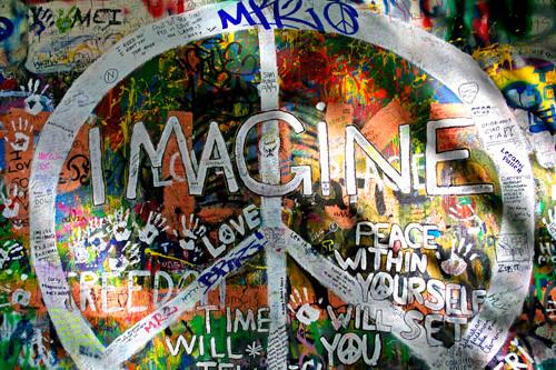 Prague, le mur John Lennon