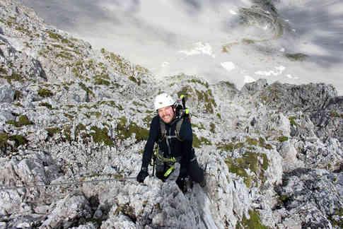 Auf dem Innsbrucker Klettersteig