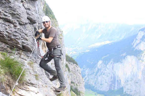 Auf dem Klettersteig Mürren-Gimmelwald