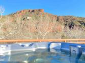 Saltwater spa overlooking Sedona's red rocks