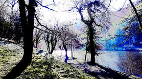 Caylus lake, January 2021