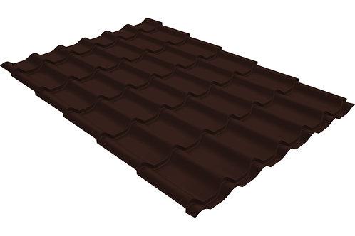 Металлочерепица классик 0,4 PE RAL 8017 шоколад за м2