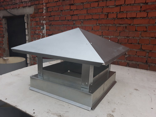 Дымник оцинкованный 1000*500мм - металл 0,50м