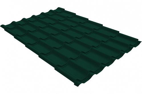 Металлочерепица классик 0,4 PE RAL 6005 зеленый мох за м2