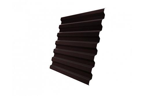 Профнастил С21R 0,4 PE RAL 8017 шоколад за м2