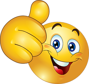 Thumbs up smiley, royalty free from web.