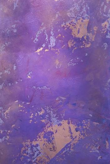 Maler Schief_Spachtelbild mit Blattgold Magenta_edite