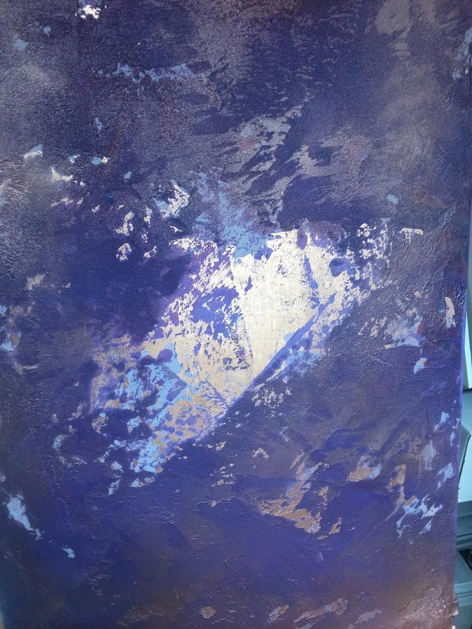 Spachtelbild mit Blattgold Violett.jpg