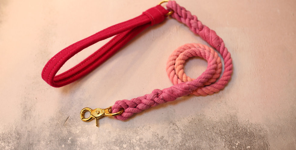 #68 Rope Clip Lead - 10mm - with Wool Handle 110cm