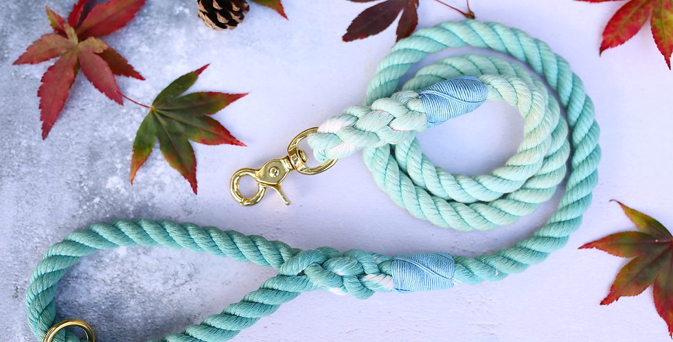 Ice Blue Ombre - Rope Leads