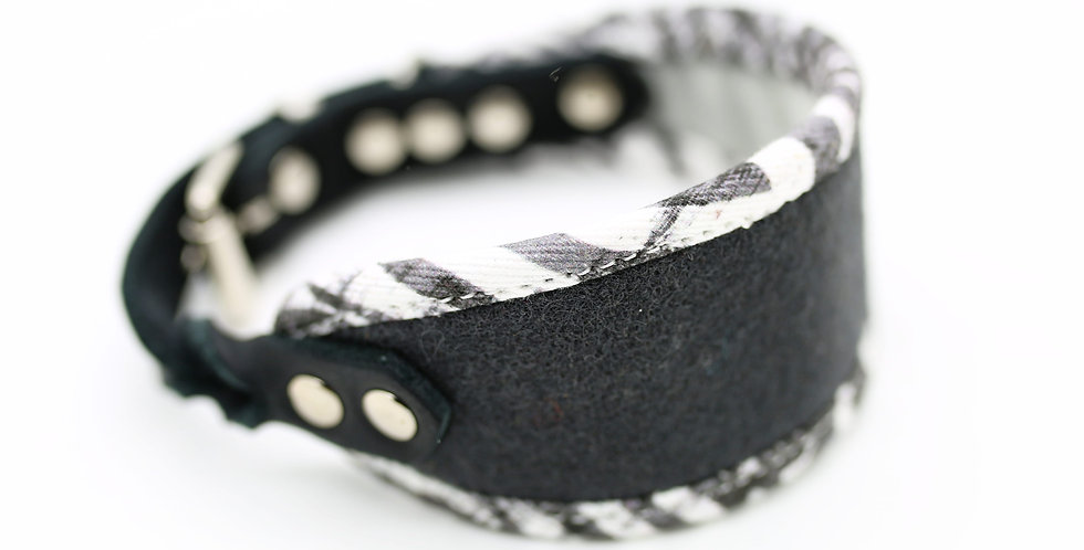 Charcoal - Wool Hound Collar