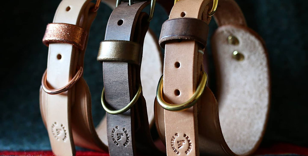 Natural Leather Collar