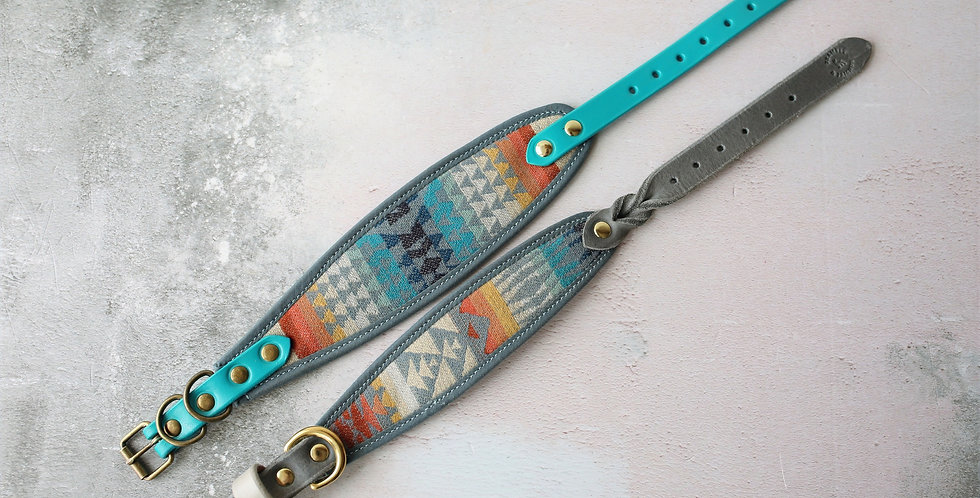 Pendleton and Soft Leather Collar - Zephyr
