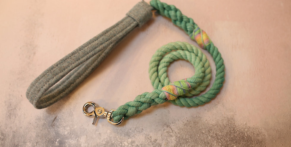 #72 Rope Clip Lead - 10mm - with Wool Handle 110cm