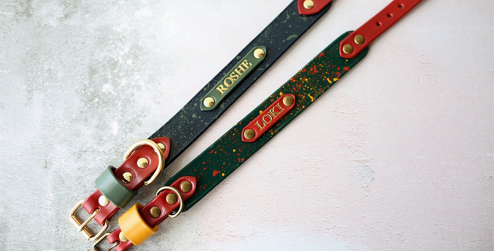 Hand Painted Slimline Collar - Customise