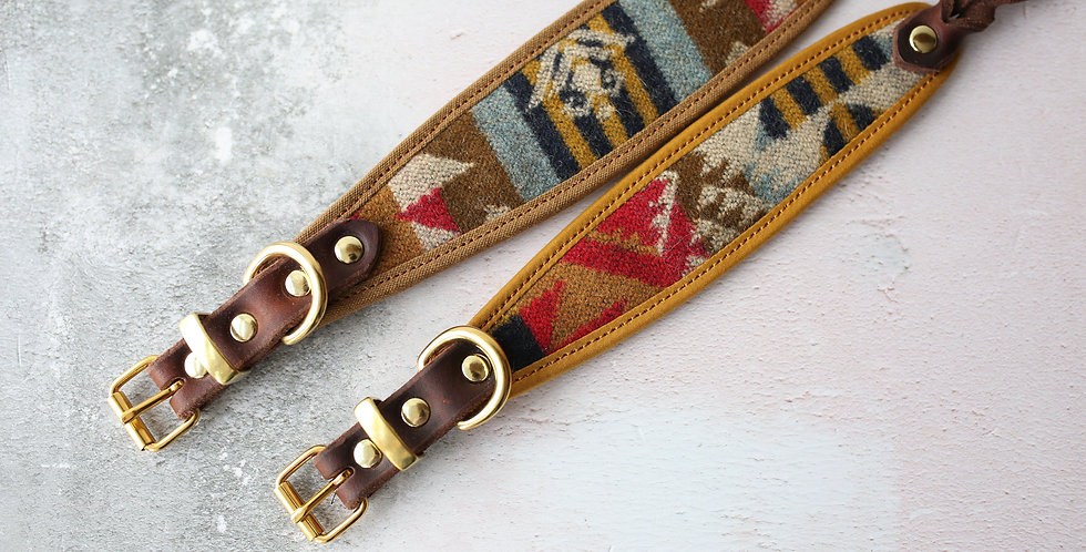 Pendleton and Soft Leather Collar - Fable