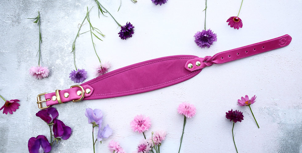 SWEETPEA - Pink Dry Oilskin Hound Collar